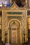 在Hagia Sophia的米哈拉布 图库摄影