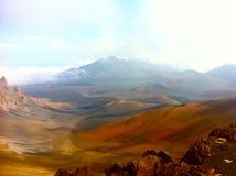 在Halaekala火山里面,毛伊 免版税图库摄影