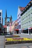 在halberstadt方向马蒂尼鸡尾酒教会的中心 库存图片