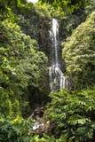 在Haleakala国家公园,毛伊,夏威夷的瀑布 免版税库存图片