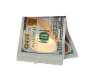 在half_折叠的美元 免版税图库摄影