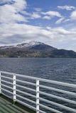 在Halsafjorden的轮渡乘驾 库存照片