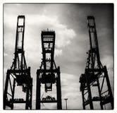 在Hamborg habour的起重机 库存图片