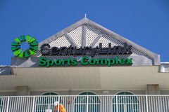 在Hammond体育场上的标志复杂CenturyLink的体育的 图库摄影
