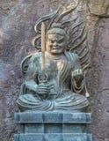 在Hasedera寺庙的Fudomyoo在镰仓 库存图片