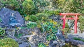 在Hasedera寺庙的Fudomyoo在镰仓 库存照片