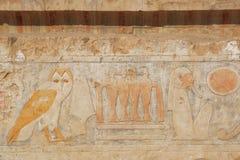 在Hatshepsut寺庙的壁画  图库摄影