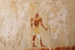 在Hatshepsut寺庙的壁画  库存照片