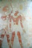 在Hatshepsut寺庙的壁画  免版税库存照片