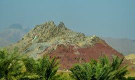 在hatta的好的五颜六色的岩石 库存照片