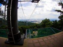 在Hatyai公园,合艾,泰国的缆车 图库摄影