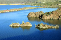 在havasu湖沼泽附近的区 库存图片