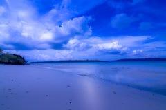 在havelock海岛, andaman和nicobar的私有海滩 免版税库存照片