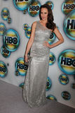 在HBO 2012金黄地球证书过帐当事人的Andie MacDowell,贝弗利・希尔顿旅馆,贝弗莉山庄,加州01-15-12 免版税库存照片