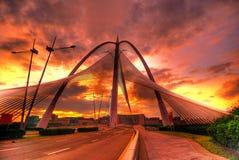 在HDR的Seri Wawasan桥梁 库存照片
