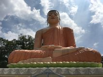 在Hidellana的Samadhi菩萨雕象 免版税库存照片