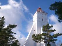 在Hiiuma爱沙尼亚语海岛上的Kõpu灯塔  免版税库存照片