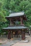 在Hikakokubun籍佛教寺庙的钟楼 免版税库存图片