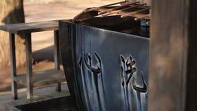 在Hikawa寺庙的洗净低谷在东京 股票视频