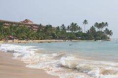 在Hikkaduwa海滩 斯里南卡 库存照片