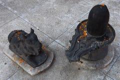 在hinduist寺庙Shri Makar Vahani甘加Jee的雕象和Sita Ram Dham聚会所在瑞诗凯诗 免版税图库摄影