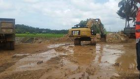 在hingurupaththala的挖掘 免版税库存图片