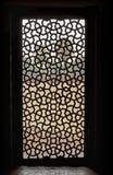 在Hiumayan ` s坟茔的窗口屏幕 免版税库存图片