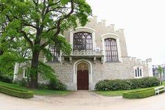 在Hluboka城堡的骑马霍尔 库存图片
