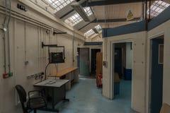 在HMP舒兹伯利监狱,达娜的接纳地区 库存照片