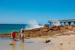 在Hobie海滩,伊莉莎白港的飞溅节日 免版税库存照片