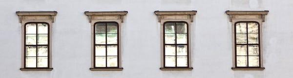 在Hofburg门面的老窗口在维也纳 免版税库存图片