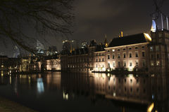 在hofvijver的Binnenhof 库存照片