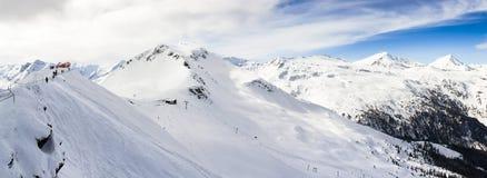 在hohe Tauern的全景 免版税库存照片