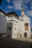 在Hohensalzburg城堡,萨尔茨堡,奥地利的圣乔治的Chape 免版税图库摄影