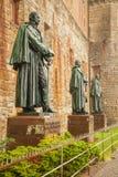 在Hohenzollern城堡城镇Hohenzollern的雕象 库存照片