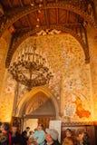 在Hohenzollern城堡里面 库存照片