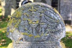 在Hollum公墓,阿默兰岛,荷兰的墓碑 库存图片