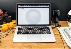 在homepod的WWDC最新的公告的苹果电脑 库存照片