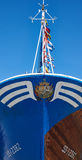 在Hondarribia捕鱼港口停泊的渔船 巴斯克国家(地区) 图库摄影
