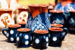 在Horezu的陶瓷瓦器,罗马尼亚 免版税库存图片