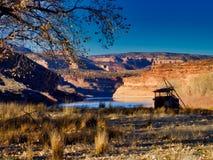 在Horsethief峡谷嘴的鸭子窗帘  免版税库存照片
