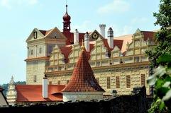 在Horsovsky Tyn,捷克的城堡 库存图片