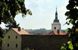 在Horsovsky Tyn,捷克的城堡 免版税库存照片