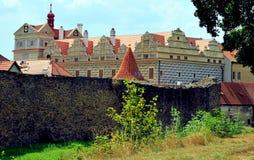 在Horsovsky Tyn,捷克的城堡 免版税库存图片