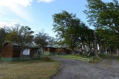 在Hosteria Las Lengas旅馆疆土在Lago布兰科 免版税库存照片