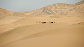 在Huacachina附近的沙丘 图库摄影