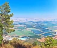 在Hula谷,北部以色列的风景看法 库存图片