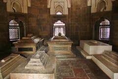 在humayuns坟茔里面的坟墓在德里 库存图片