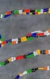 在Hundertwasser房子的马赛克装饰品在维也纳奥地利 库存图片