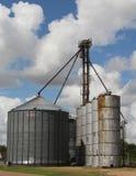 在Hungerford TX附近的谷物仓库 免版税库存图片